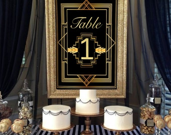 Great Gatsby Table Numbers - DIGITAL