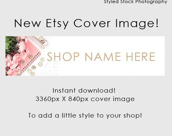 Etsy Cover Photo / Etsy Cover Image / Premade Etsy Banner / Premade Cover Photo / Shop Banner / Cover Image / Stock Photo / Style-106