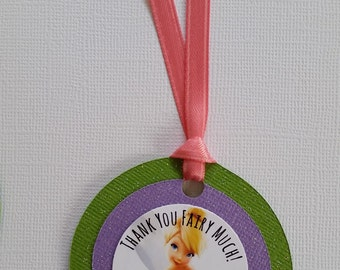 Set of 12 Tinker Bell Inspired Favor Tags
