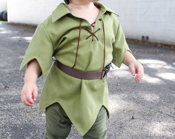 "Peter Pan Toddler SZ 12mo, 18mo, & 2T-4T Adorable  Costume, ""The New Version"" for Toddlers"