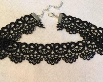 Black Guipure Lace Choker