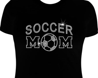 Soccer Mom t shirts-Rhinestone-Soccer mom-Soccer Iron on transfer