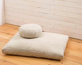 wool meditation set zafu and zabuton meditation cushions woolfilled inserts included