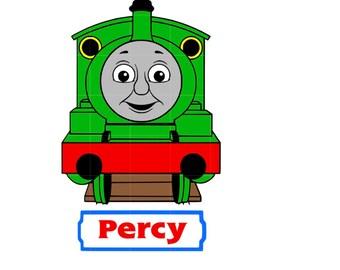 Percy The Train Clip Art percy the train – etsy