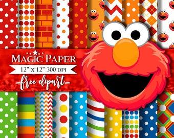 Elmo clipart | Etsy