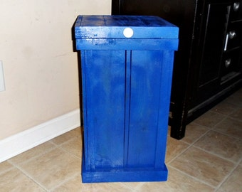 clothes hamper wood laundry basket royal blue laundry room storage 30 gallon