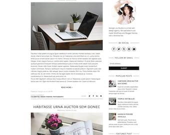 "Simple Blogger Template - Premade Blogger Template, Responsive, Simple, Minimal, Customizable -  ""Sophie"" -  Blogger Theme Instan"