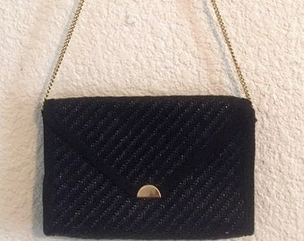 Vintage Black and Gold Purse/Clutch