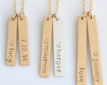 Unique Gold Bar Necklace Related Items Etsy