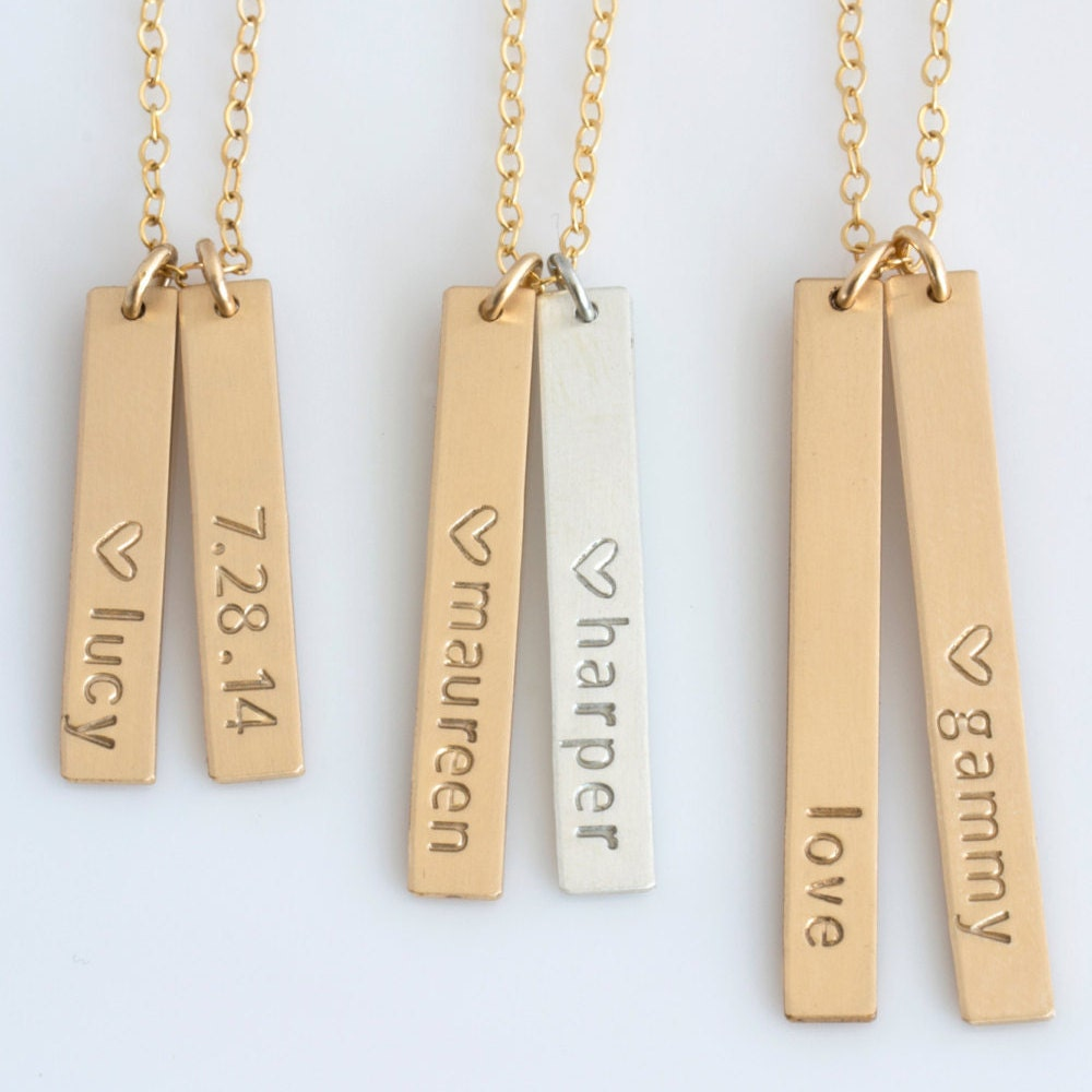 Personalized Vertical Bar Necklace Vertical Bar Necklace. Perfect Emerald. 24k Gold Medallion. Anklet Length. Ash Pendant. 18kt Gold Bangle Bracelet. Dual Watches. Strand Bracelet. Sporty Watches