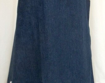 Denim pinafore dress with shoulder buttons and applique hearts 6 years