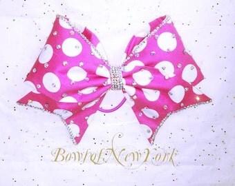 Pink Polka Bow*