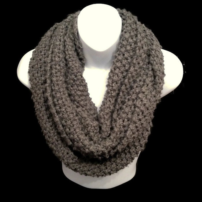 Chunky Infinity Scarf Chunky Knit Circle Cowl Scarf For Winter