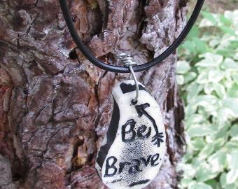 Be Brave Necklace, Be Brave Arrow Necklace, Arrow Necklace, Elk Antler Necklace, Antler Jewelry, Be Brave Jewelry, Brave Jewelry, Be Brave