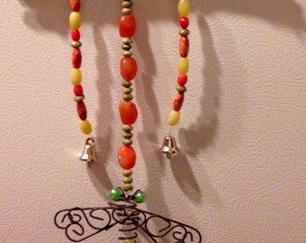Dragonfly bead chime - Custom made with your choice of colors!