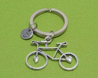 Personalized Bike Keychain, Bicycle Keychain, Sport Keychain, Cycling, Gift for Cyclist, Customized, Engraved, Monogram, Initial Keychain