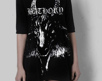 Bathory Black metal dress tunic Huge Satanic Goat
