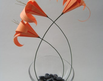 Origami Floral Arrangement - Orange Lily