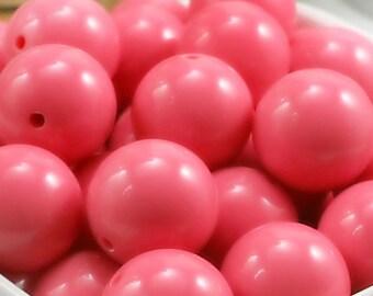 20mm Guava Pink Bubblegum Beads - Guava Pink Wholesale Beads - Guava Chunky Necklace Beads - Guava Chunky Bubble Gum Gumball Gum Ball Beads