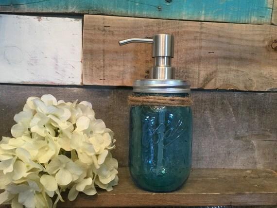 Kitchen Or Bathroom Soap Dispenser Blue By Vintagedaisyhome