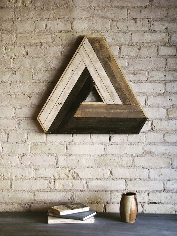 Reclaimed wood wall art decor lath penrose by for Wood decoration patterns