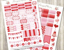 February monthly stickers kit printable PDF for Erin Condren Lifeplanner, Filofax, Happy Planner, scrapbooking / INSTANT DOWNLOAD
