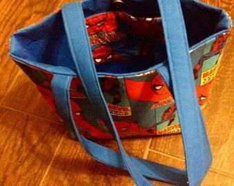 Small cotton shoulder bag