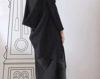 Extravagant Cashmere Vest / Long Sleeveless Vest / Outerwear by FabraModaStudio / FAB407
