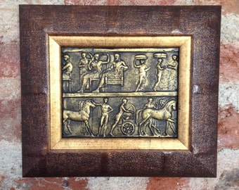 SALE 22% Off,Ancient Bas Relief Wall,Gift Fine Art,Replica of Ancient Antique Bas Relief,Relief Painting,Ancient Replica,Gift Paintings,Gift