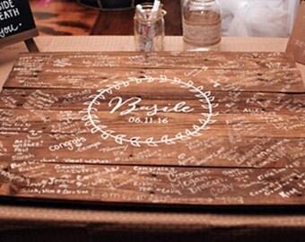 Wedding Guest Book - Guest Book Alternative - Guest Book - Signature Board - Wedding Decor - Wedding - Laurel Leaf Wedding Guest Book