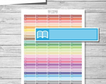 Book Stickers, Printable Book Stickers, Reading Planner Stickers, Book Appointment Stickers, Study Stickers, Printable Study Stickers PS159