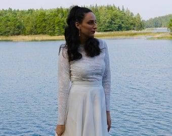 long sleeve wedding dress, modest wedding dress, boho wedding dress, lace wedding dress, bohemian wedding dress, indie wedding dress.
