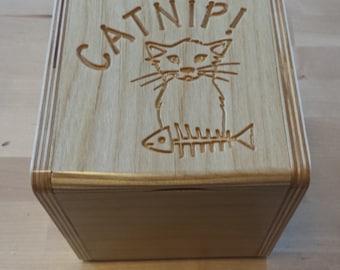 Catnip storage box
