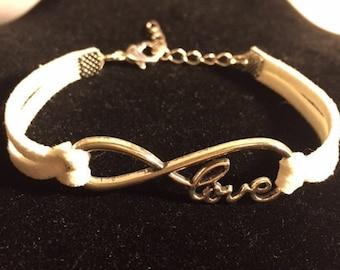 White Infinity Love Bracelet