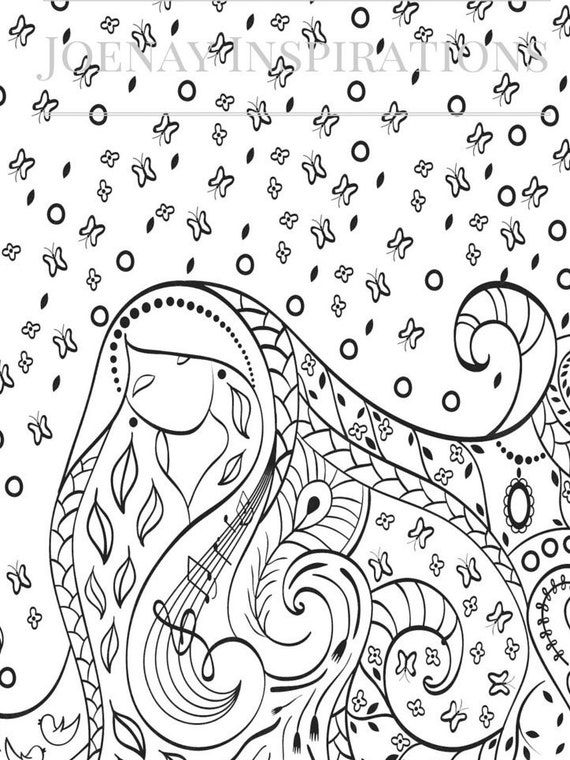 Adult Coloring Book, Printable Coloring Pages, Coloring Pages, Coloring Book for Adults, Instant Download, I love 70s 1 page 8
