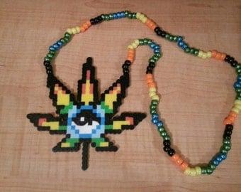 Yin & Yang Weed Perler Necklace