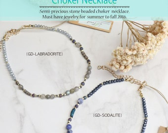 Lucy Choker Semi-precious Beaded Necklace