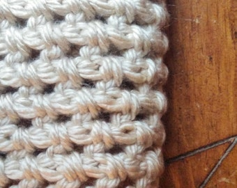 The Shimmer Beige Cowl, extra-long