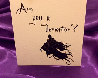 Harry Potter inspired Valentines card - Dementors