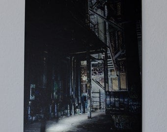 Abandoned Place, Industrial Building – Printed on brushed aluminium, 60 x 42 cm