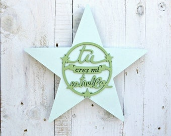 Star painted green
