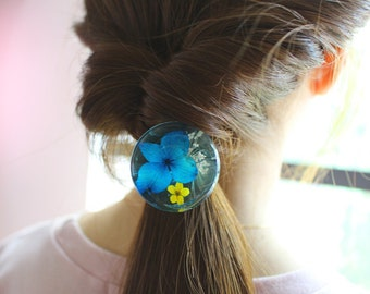 pressed flower hairband