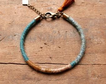Bohemian jewelry/ Women gift/ Boho bracelet/ Gypsy/ Mom gift/ Ethnic bracelet/ Stacking bracelet/ woven bracelet/ Tassel bracelet/ Women