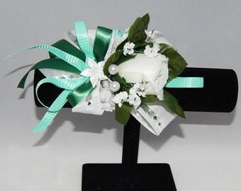 Beautiful White Rose Corsage