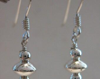 Sweet & small, silver earrings
