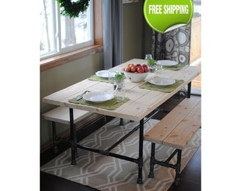 Industrial Pipe Dining Table