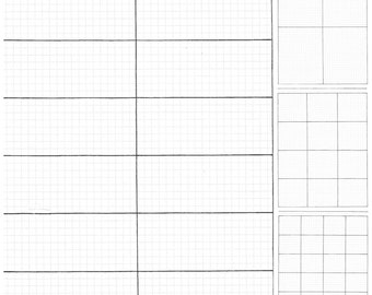 Simple Boxes -Bullet Journal Inserts, Hand Drawn Printable Planner Pages - Letter Size, Watermark Grid, Graph Paper, Weekly, Monthly, Daily