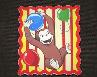 Curious George Stickers for back of envelope