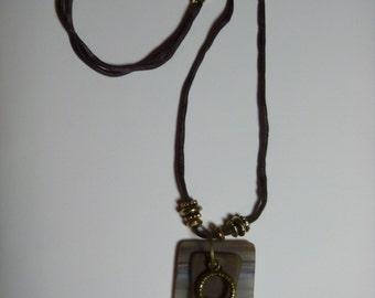 Silk & sea glass necklace
