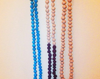 Customizable Paper Bead Necklaces